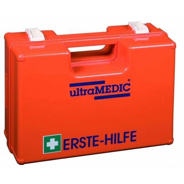 Erste-Hilfe-Koffer, gefüllt nach DIN 13 169, orange