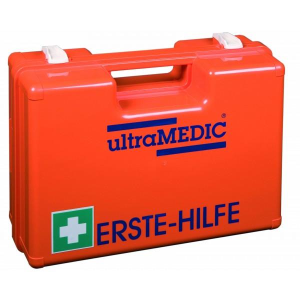 Erste-Hilfe-Koffer, gefüllt nach DIN 13 157, orange