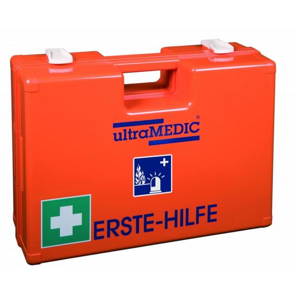 Verbandkasten, gefüllt nach DIN 14 142, orange